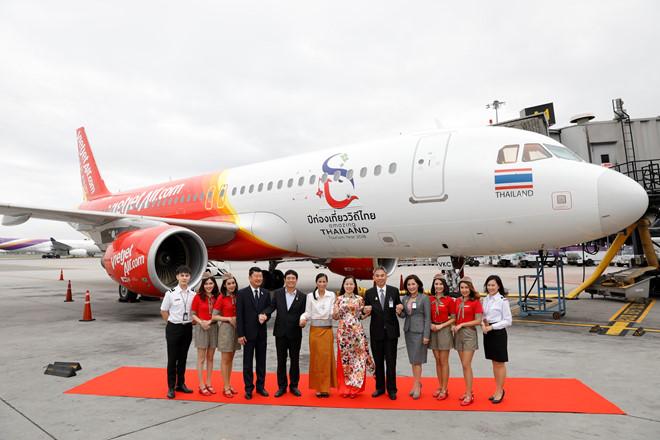 Tàu bay mới của Vietjet Thailand .