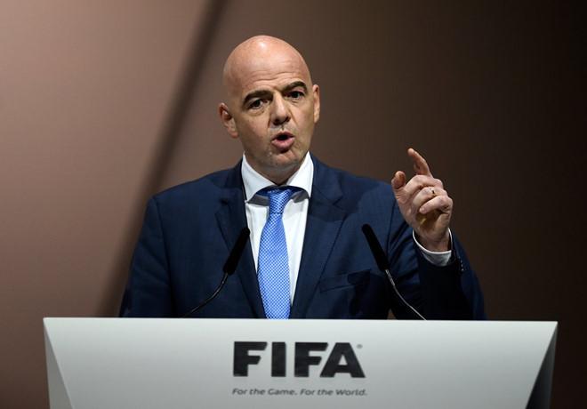 Chủ tịch FIFA Gianni Infatino.