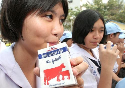 Chương trình sữa học đường tại Thái Lan.