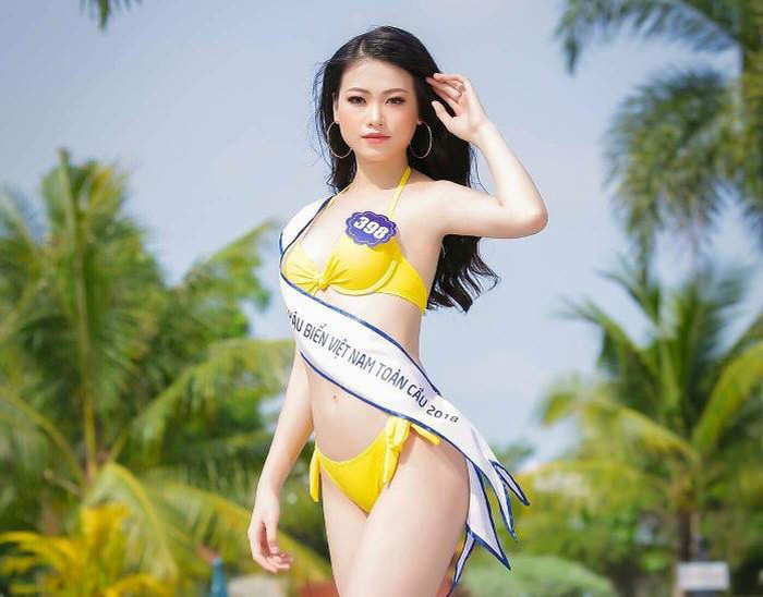 Hình thể hoa hậu Phương Khánh