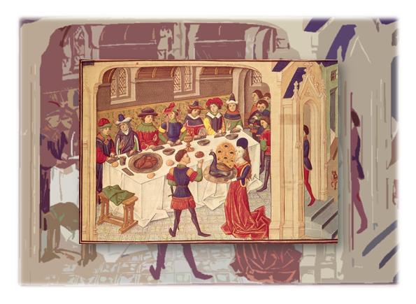 Dao ăn cũng là phụ kiện không thể thiếu trong thời Trung Cổ
