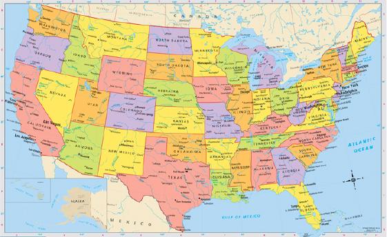 Bản đồ Mỹ