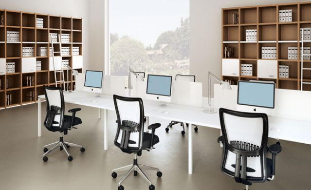 Tạo không gian tĩnh lặng, trong lành cho phòng làm việc.