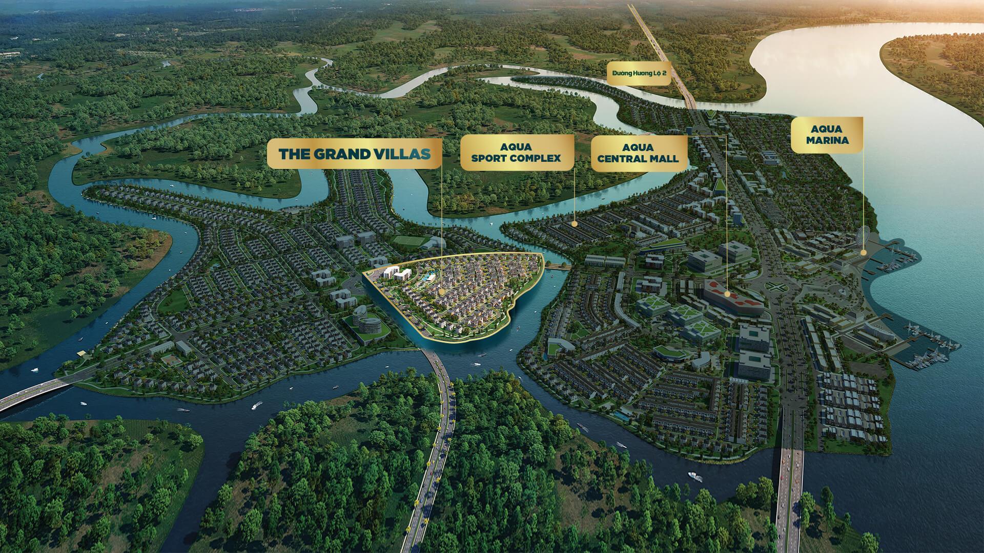 vị trí dự án grand villas