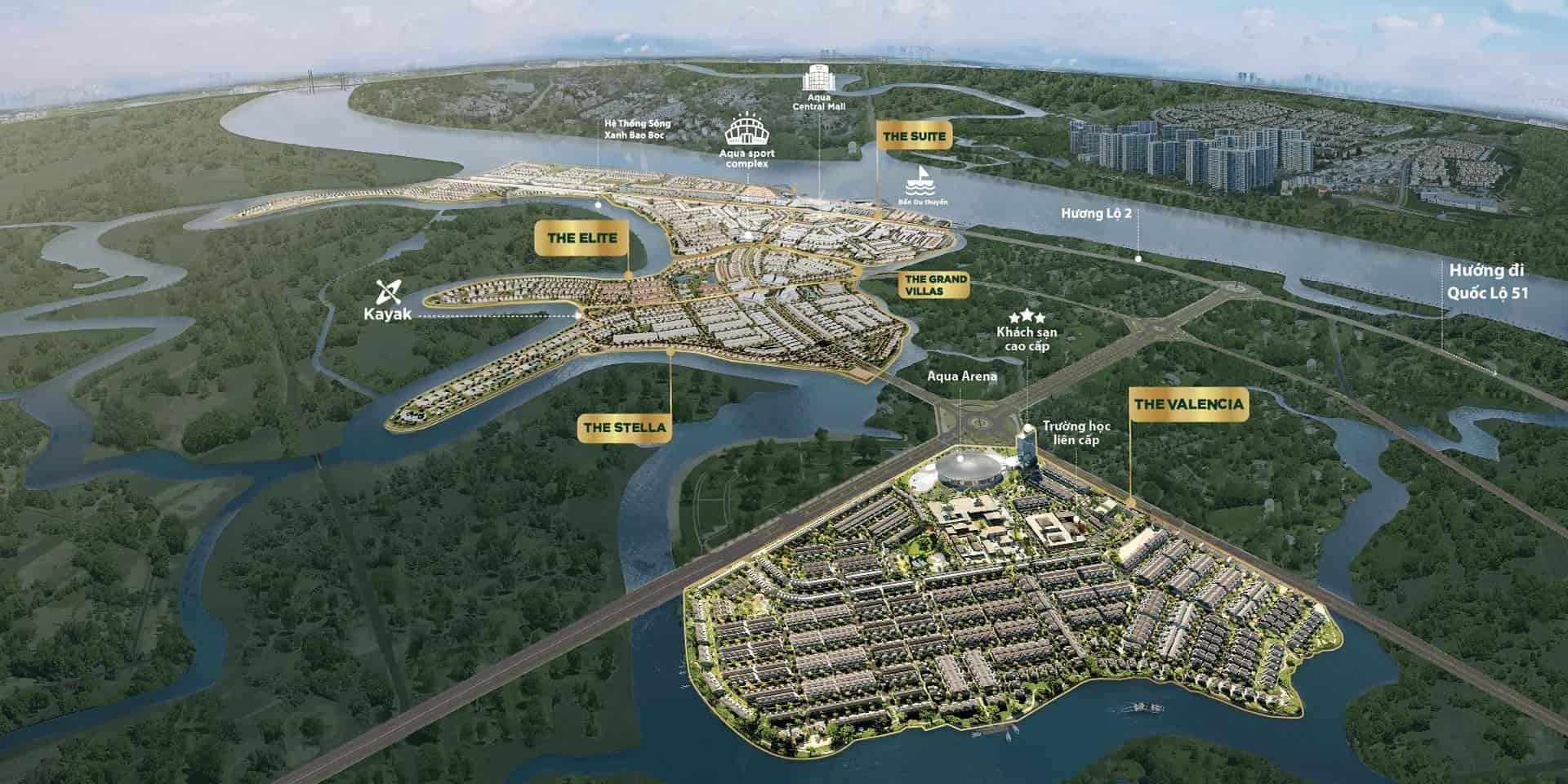 biểu đồ quy hoạch khu đô thị Aqua City