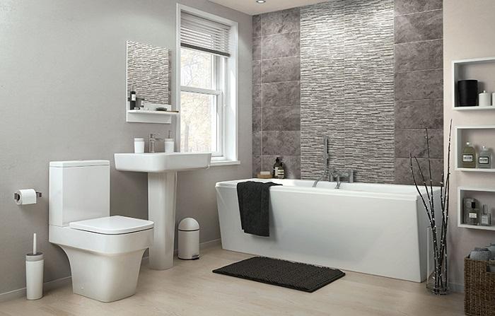 Đầu tiên bạn phải lựa chọn gạch ốp lát phù hợp với không gian nhà tắm
