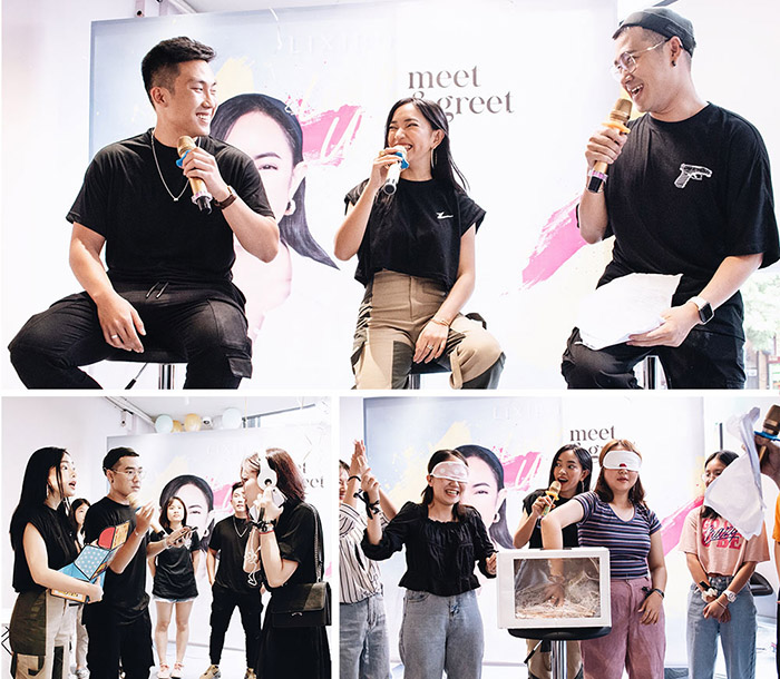 Châu Bùi đã chọn địa điểm checkin mới nhất tại cửa hàng mỹ phẩm Lixibox Phan Xích Long hoành tráng để tổ chức buổi meet & greet